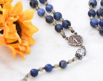 Rosary Beads with Miraculous Medal Catholic Rosary First Holy Communion Gift