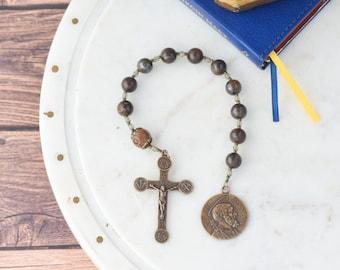 St. Joseph Pocket Rosary Consecration to Joseph Gift Men's Rosary