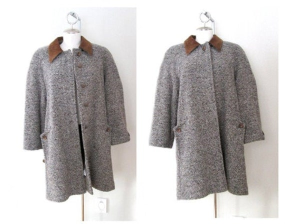 Vintage 60's/70's two toned classic wool coat. jac