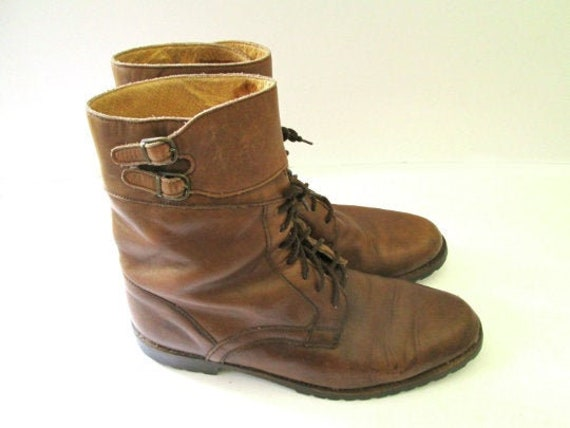 Vintage 70's/80's men's leather mid-calf boots. la
