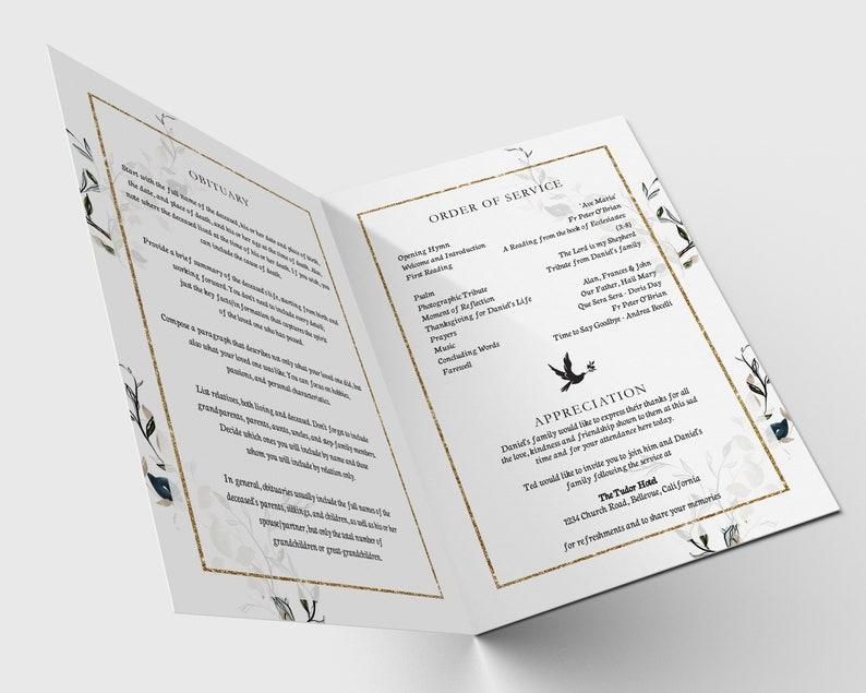 Printable Funeral Program Template Funeral Printables Celebration of Life Memorial Service F9 Memorial Program Order of Service
