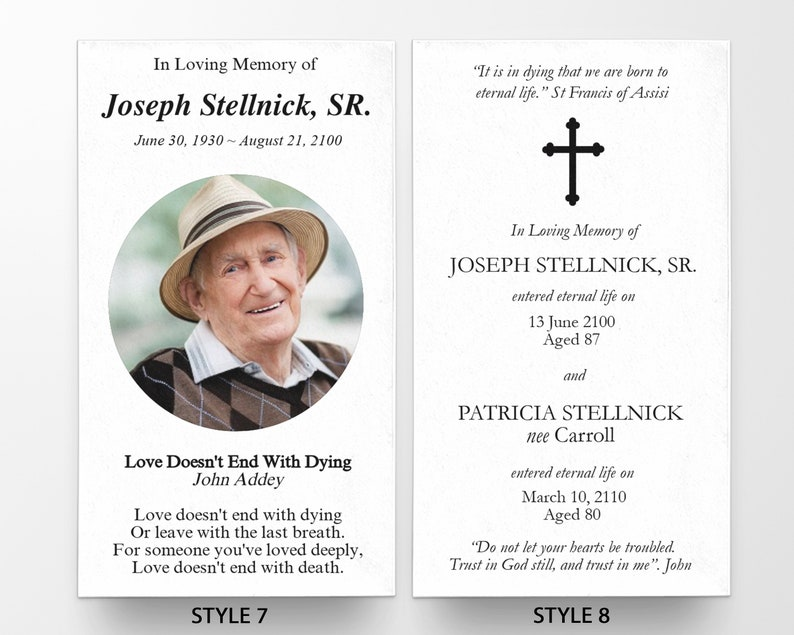 Prayer Cards Personalized Prayer Cards for Funeral Prayer Cards Catholic Funeral Card P6 Memorial Prayer Cards Catholic Prayer Cards
