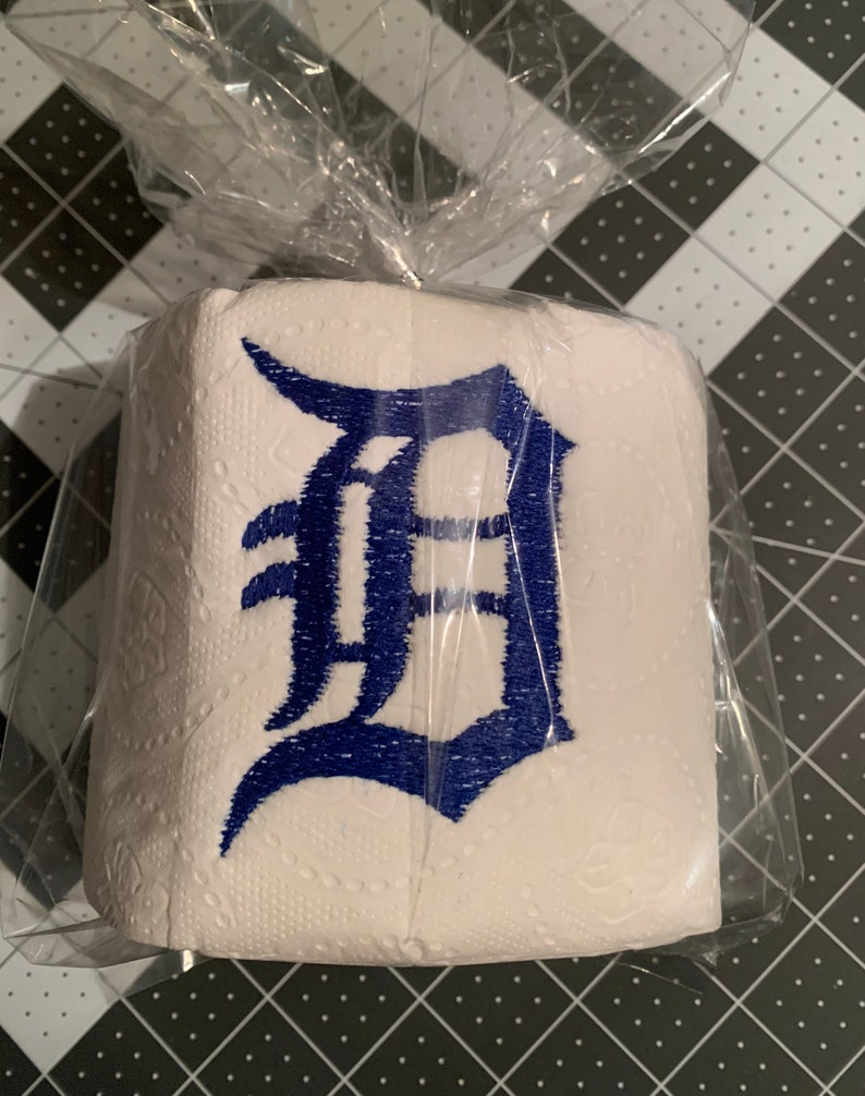 Detroit Tigers Embroidered Toilet Paper