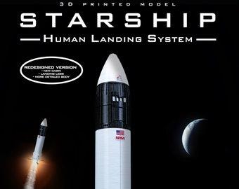 STARSHIP HLS  | Human Landing System | Plastic model | Rocket | SpaceX | Spacecraft | 3D Print