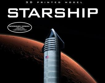 STARSHIP Spaceship | Plastic model  | Rocket | SpaceX | Spacecraft | 3D Print