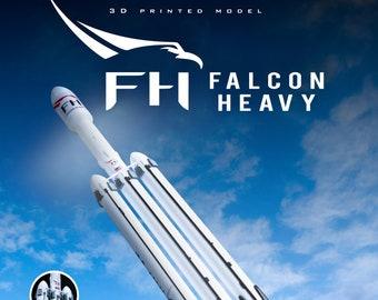 FALCON HEAVY | Plastic model | Rocket | SpaceX | NASA | Scale 1:144 | Spacecraft | 3D Print