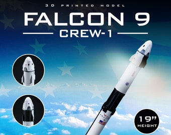 FALCON 9 Crew-1 | Dragon Resilience | Plastic model | Rocket | SpaceX | NASA | Scale 1:144 | Spacecraft | 3D Print