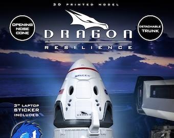 DRAGON 2 Resilience | Plastic Model  | SpaceX | NASA | Capsule | Spacecraft | 3D Print