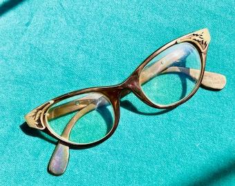 1950s Bronze Cat Eye Tura Aluminum Frames