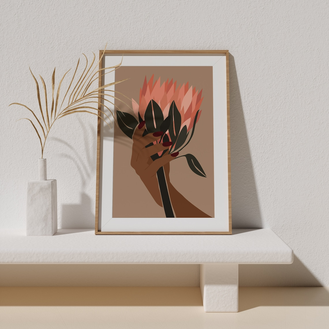 BLOOM PRINT Black Girl Art art afro-américain LOTUS image 0