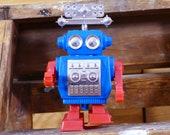 Wind-Up Radar Robot Plastic Vintage Clockwork Hong Kong Space Toy