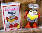 Wind-Up Radar Robot KY Tin Vintage Clockwork Japan Space Toy