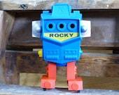 Rocky Robot Robotron Topper Marx Alps Vintage Hong Kong Space Toy