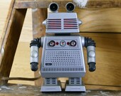 Star Command Robot Radio Vintage Battery Powered Japan Hong Kong Space Toy