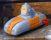 Astro Car Friction Rocket Tsukudaya Vintage Astronaut Wind-Up Japan Space Toy