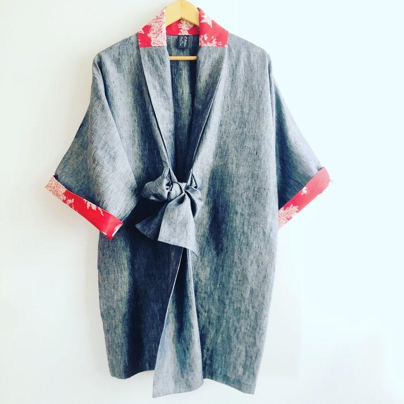 SOLD  Available in PRE-COMMANDE // Kimono mixed Rain image 0