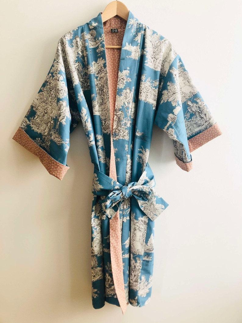 Kimono long Blue Soul jacket over bathrobe image 0