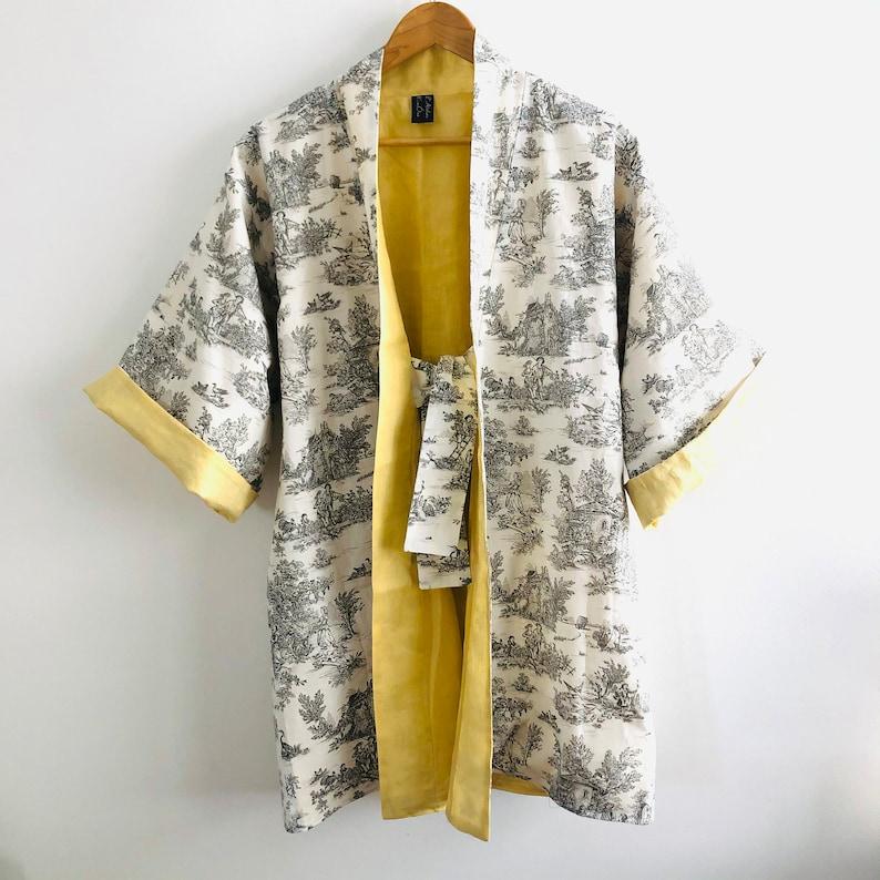 Kimono mid-length Citron de Jouy jacket over image 0
