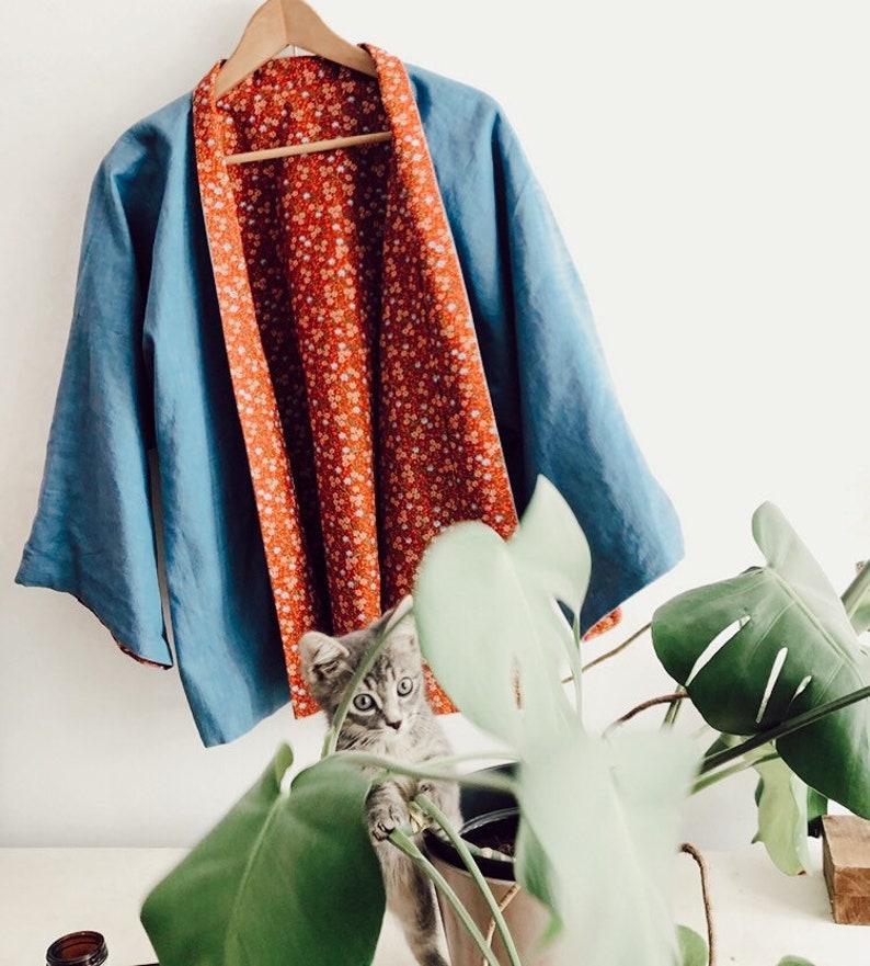 SOLD  Available in PRE-COMMANDE//Kimono reversible The image 0