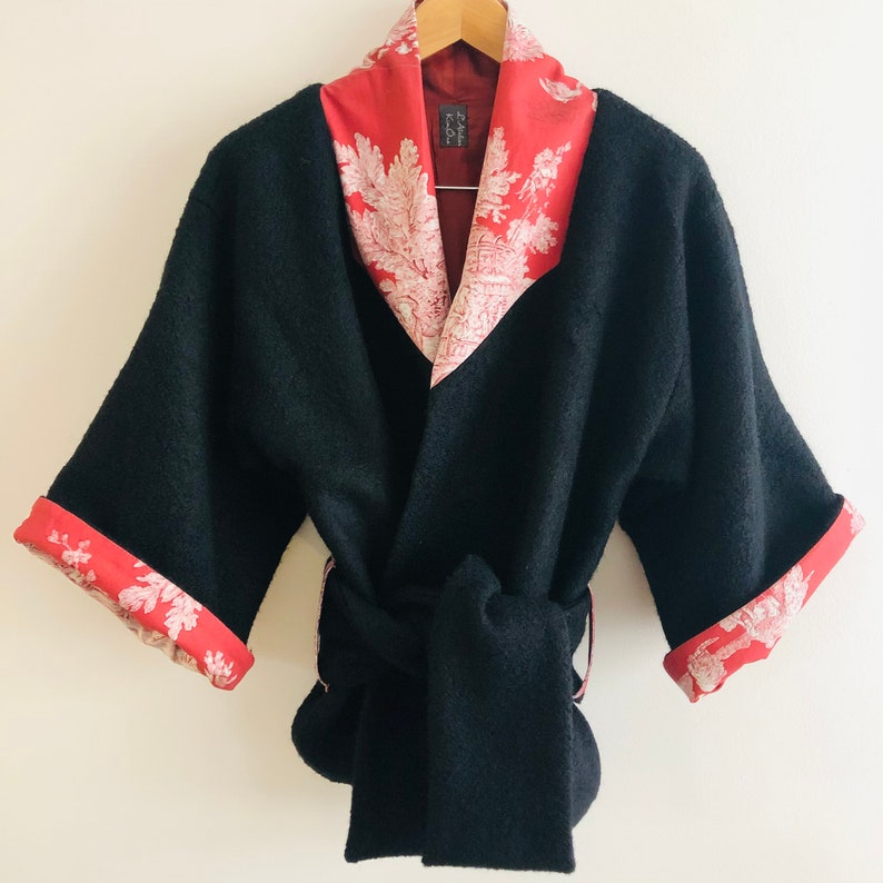 Kimono jacket coat Charbon de feu kimono jacket image 0