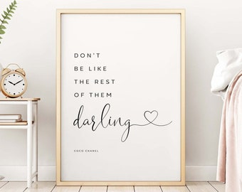 Coco Chanel Quotes Etsy