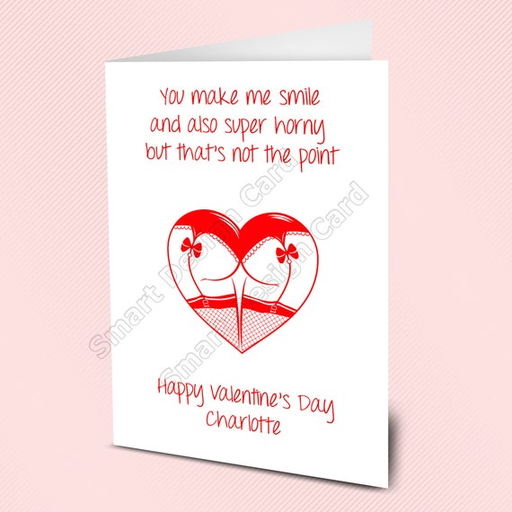 Valentines Day Gift Idea Bag of Love /& Card Novelty Fun Personalised For Him Her