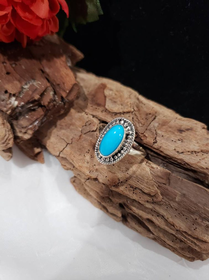 Artisan Crafted Arizona Sleeping Beauty Turquoise 925 Sterling Silver Ring Size 9-1.86 ctw