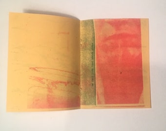 i was so close risograph printed zine