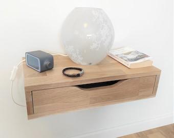 Floating nightstand with drawer / Hanging bedside table / Floating Nightstand with drawer / Bedside table / Nachttisch / Nightstand