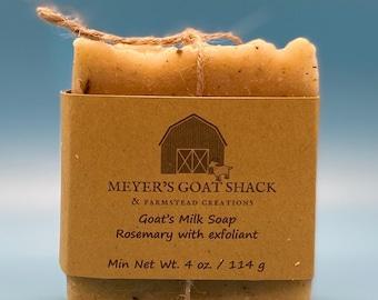 13A-HHR | Rosemary Essential Oil | Goat Milk Soap