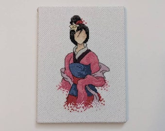inspired art from Disney - Easy cross stitch for beginners or for Children Modern Cross Stitch PDF Pattern Ariel,Belle,Cinderella,Mulan