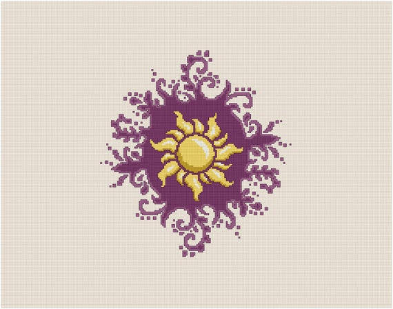 Tangled Sun Of Corona Emblem Cross Stitch Pattern Etsy