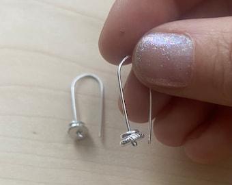 Sterling silver Double pebble earring rustic earrings easy to wear
