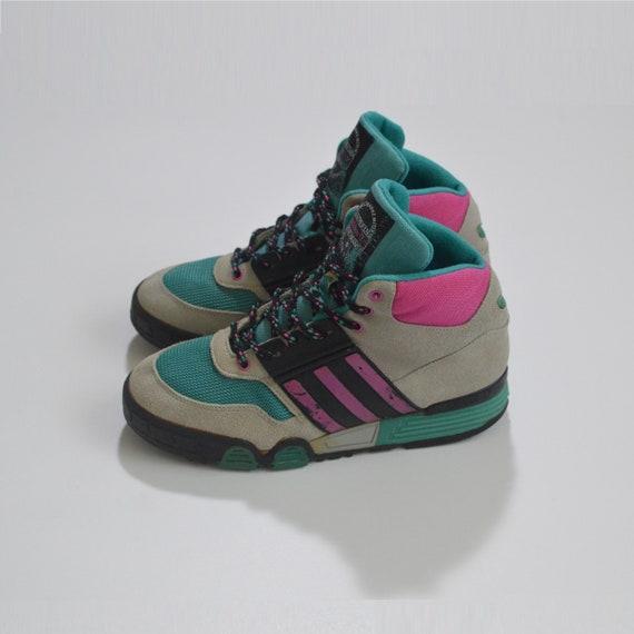 Vintage Adidas DB89024 Hi-Top Sneakers Rare 1970s