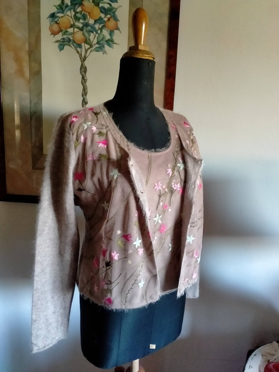 Vintage Moschino suit, cardigan and half-sleeved … - image 2