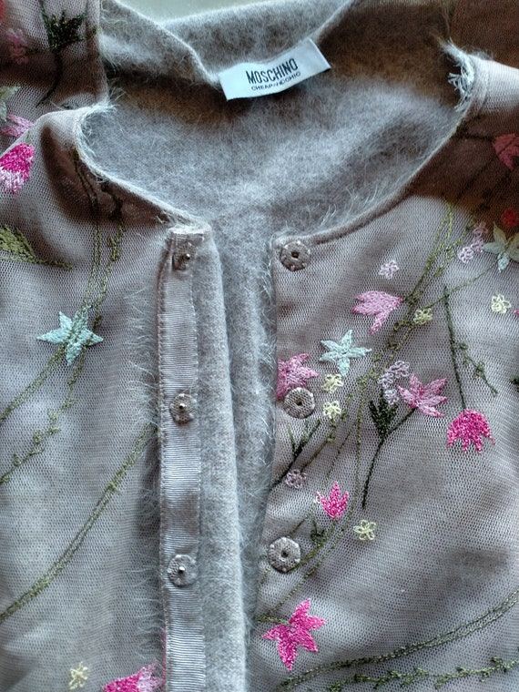 Vintage Moschino suit, cardigan and half-sleeved … - image 8