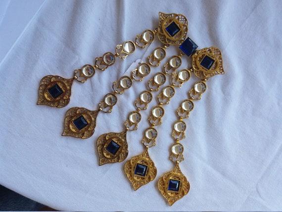 Vintage Valentino collar brooch, split collar broo