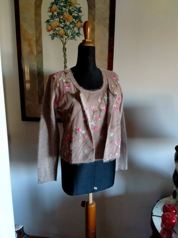Vintage Moschino suit, cardigan and half-sleeved … - image 1