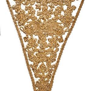 Fabric printed 18th century stomacher panel silk