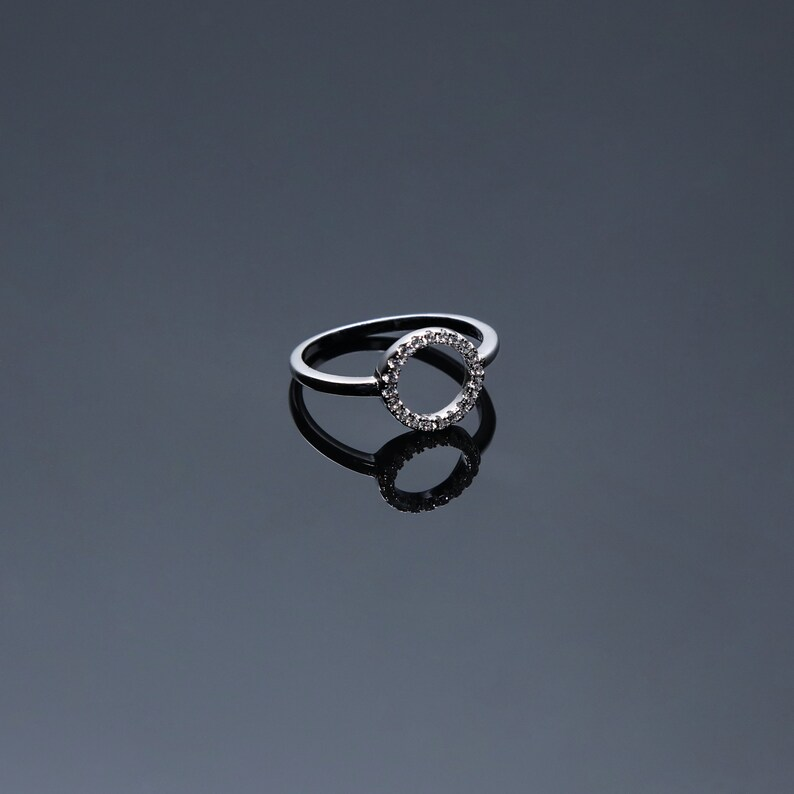Dainty Ring Personalized Gift For Mom Christmas gift Silver Hammered Stacking Ring