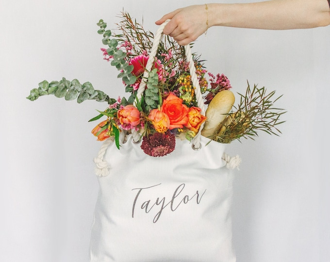 Featured listing image: Personalized Tote | Bridesmaid Gift | Custom Tote Bag