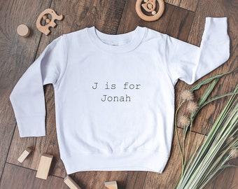 Personalized Toddler Sweatshirt | Custom Name Sweatshirt | Custom Name Alphabet Sweater