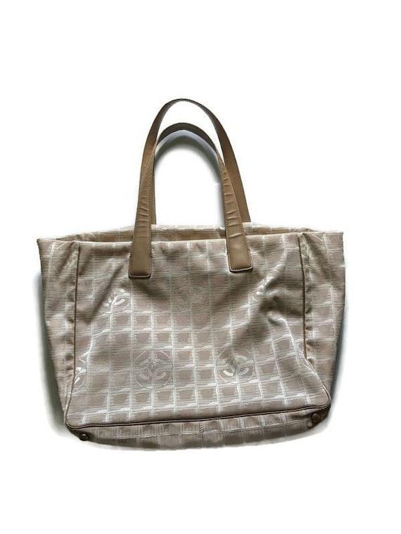 Vintage Chanel Travel Line Tote Bag • Chanel Monog