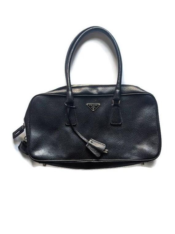 Authentic Prada Purse • Black leather Prada Purse