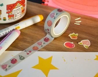 Island life washi tape - cute animal crossing stationery - kawaii decorative planner tape illustration