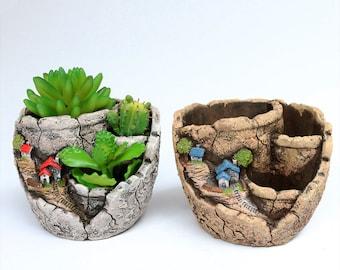 Flower pots-Creative sky home garden, succulent flower pot, wholesale,green micro-landscape,flower arrangement with craft decoration