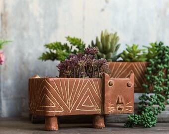 Outdoor Planters-Cat flower vase, planter,planters,flower planters,vase,flowervase,flowers planter,outdoor planters,indoor planters,cat vase