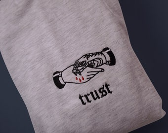 Trust no one Embroidery Shirt