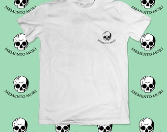 Memento Mori Embroidery Unisex T-shirt
