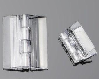 50pcs Of Clear Acrylic Hinge, PMMA Perspex Transparent Folding Hinge Furniture Accessory